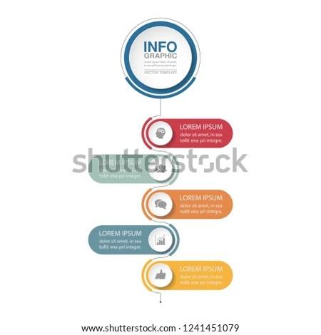Vector Infographic Template Vertical Diagram Graph Stock Vector