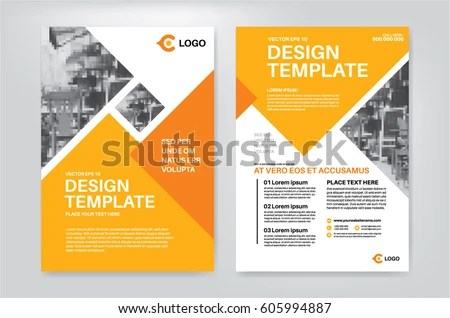 Vector Layout Design Template Leaflet Poster Stock Vector (Royalty