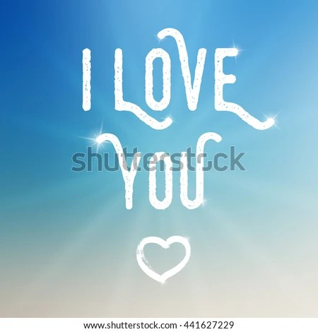 Vector Love You Template On Colorful Stock Vector (Royalty Free
