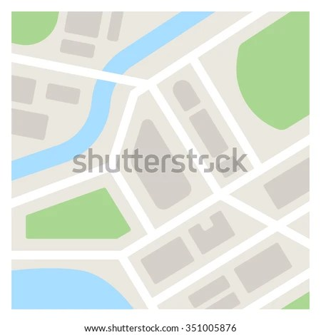 Vector Map Template Illustration Simple Flat Stock Vector (Royalty