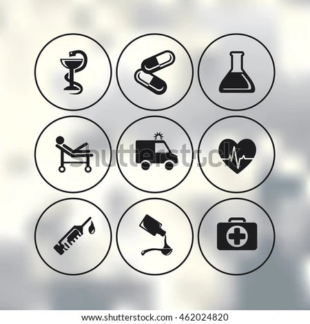 Vector Medic Health Care Icons Set Stock Vector (Royalty Free