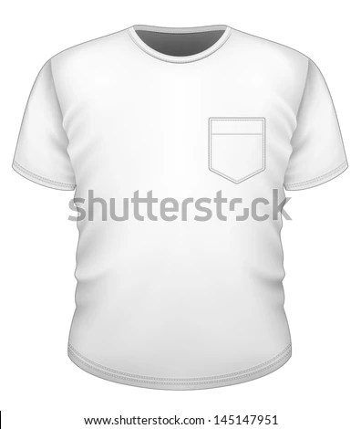 Vector Mens Tshirt Design Template Front Stock Vector (Royalty Free