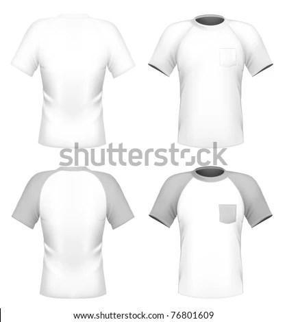 Vector Mens Tshirt Design Template Pocket Stock Vector (Royalty Free