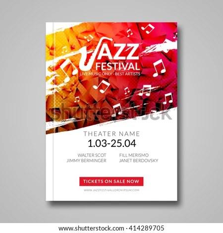 Vector Musical Flyer Jazz Festival Music Stock Vector (Royalty Free