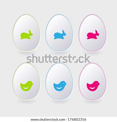 Vector Paper Easter Egg Template Cards Stock Vector (Royalty Free