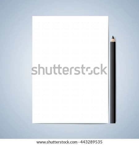 Vector Paper Pencil Blank Paper Lined Stock Vector (Royalty Free