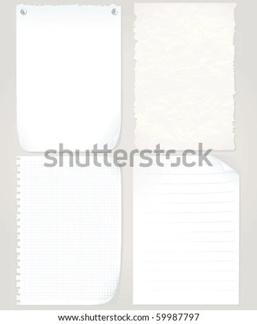 Vector Paper Sheets Set Graph Paper Stock Vector (Royalty Free