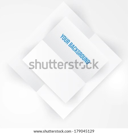 Vector Paper Template Banner White Note Stock Vector (Royalty Free