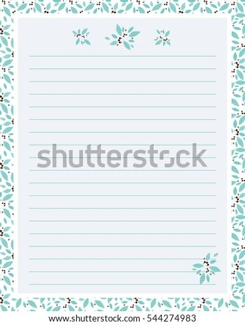 Vector Printing Paper Note Cute Paper Stock Vector (Royalty Free