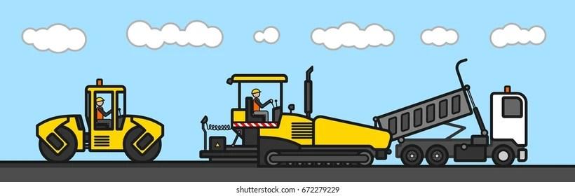 asphalt paving machine Images, Stock Photos  Vectors Shutterstock