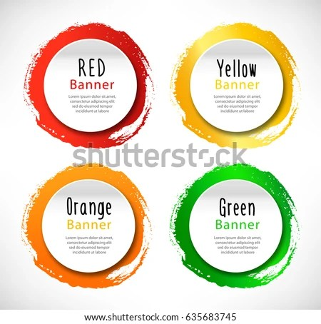 Vector Round Banners Set Templates Advertising Stock Vector (Royalty