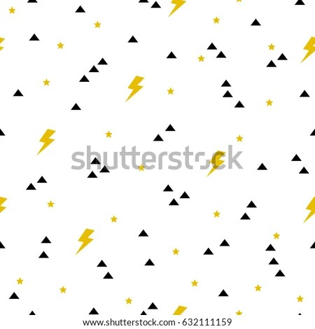 Vector Seamless Cute Background Pattern Triangles Stock Vector