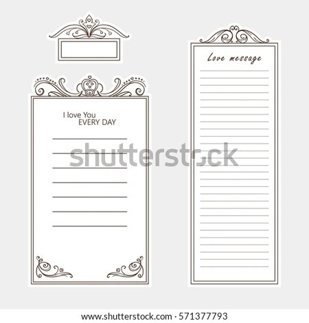 Vector Set Paper Note Bookmark Sticker Stock Vector (Royalty Free