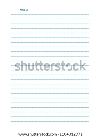 Vector Sheet Lined Letter Size Paper Stock Vector (Royalty Free