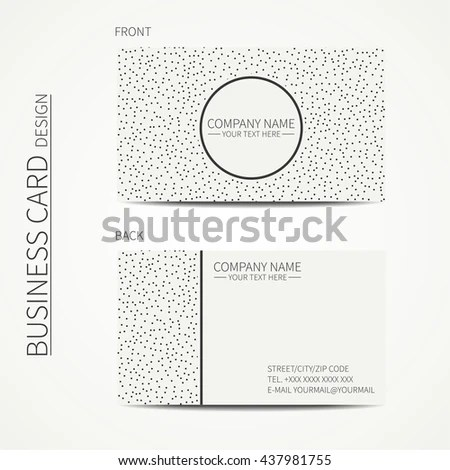 Vector Simple Business Card Design Template Stock Vector (Royalty