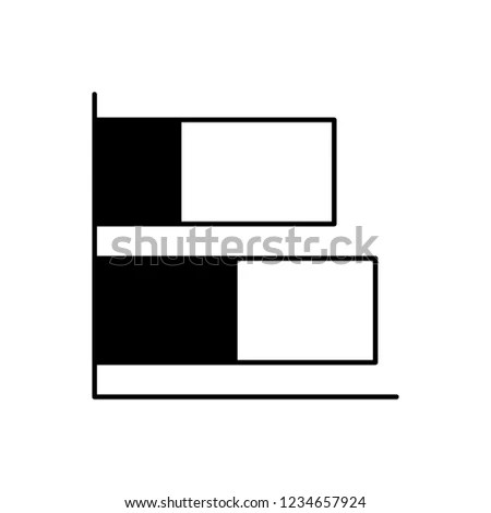 Vector Stacked Bar Chart Icon Black Stock Vector (Royalty Free