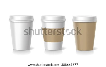 Vector Takeaway Coffee Cup Templates Illustration Stock Vector