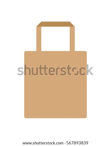 Vector Template Eco Bag Kraft Paper Stock Vector (Royalty Free
