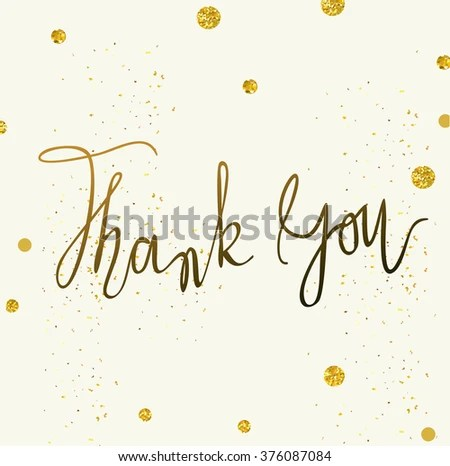 Vector Thank You Card Template Tony Stock Vector (Royalty Free