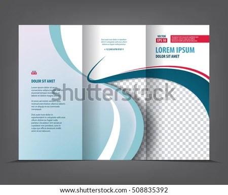 Vector Tri Fold Brochure Template Design Stock Vector (Royalty Free