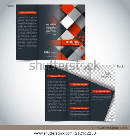 Vector Tri Folder Brochure Leaflet Mock Stock Vector (Royalty Free