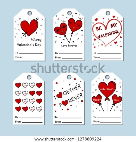 Vector Valentines Day Cards Templates Valentines Stock Vector