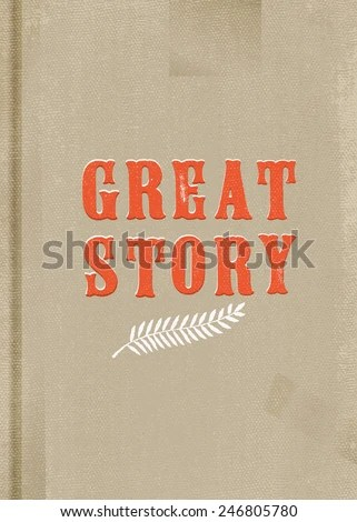 Vector Vintage Shabby Chic Book Cover Stock Vector (Royalty Free