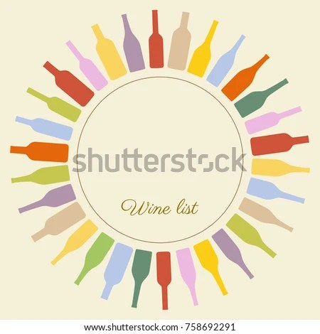 Vector Wine List Template Stock Vector (Royalty Free) 758692291