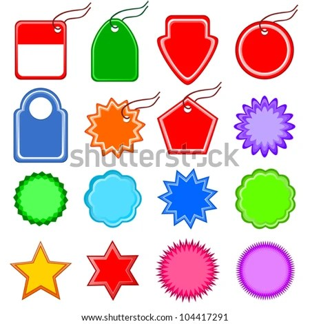 Vectors Templates Price Tag Sign Discounts Stock Vector (Royalty