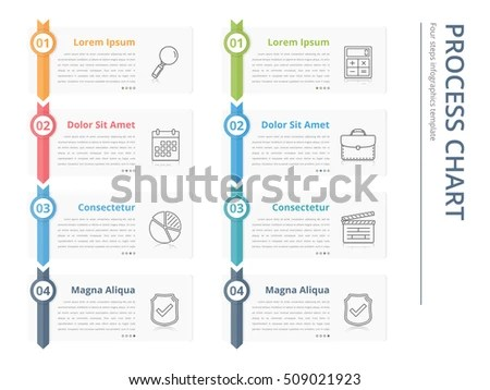 Vertical Process Chart Flow Chart Template Stock Vector (Royalty