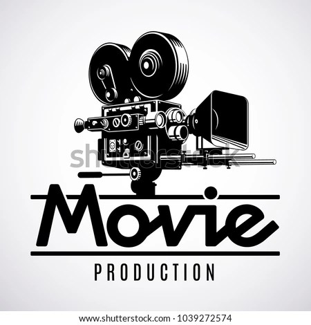 Video Production Logo Design Template Old Stock Vector (Royalty Free