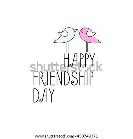 Vintage Card Template International Day Friendship Stock Vector