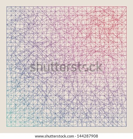 Vintage Color Graph Paper Background Vector Stock Vector (Royalty