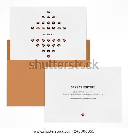 Vintage Love Letter Background Design Vector Stock Vector (Royalty