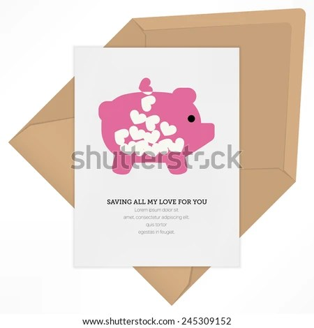 Vintage Love Letter Background Vector Design Stock Vector (Royalty