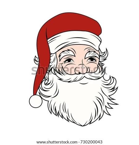 Vintage Santa Claus Vector Stock Vector (Royalty Free) 730200043