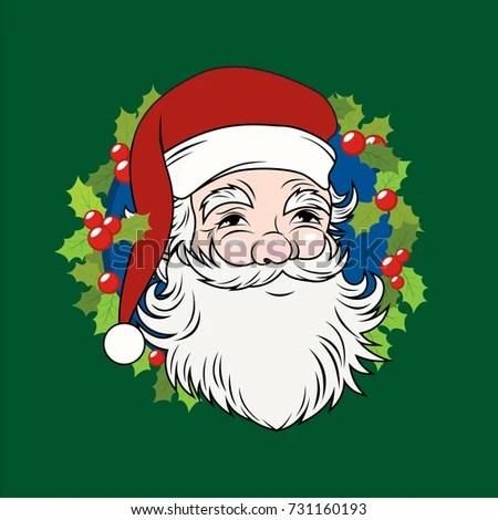 Vintage Santa Head Vector Stock Vector (Royalty Free) 731160193