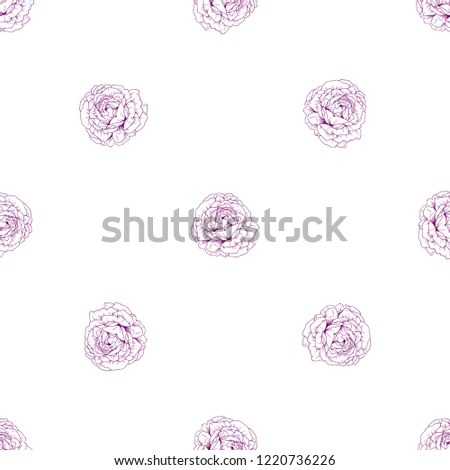Vintage Seamless Floral Pattern Beautiful Rose Stock Vector (Royalty