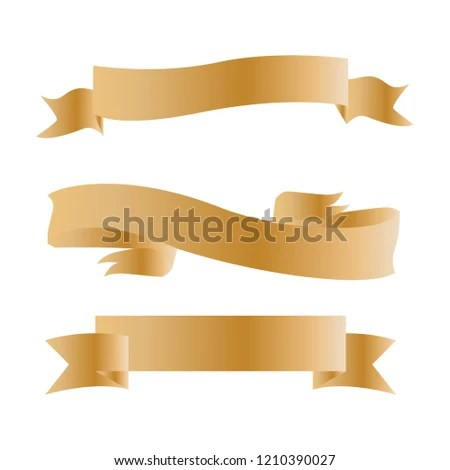 Vintage Set Ribbon Banner Template Stock Vector (Royalty Free