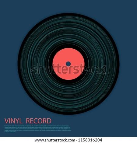 Vinyl Record Vector Musical Album Cover Stock Vector (Royalty Free
