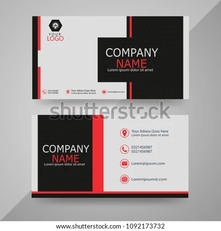 Visiting Card Designs Stock Vector (Royalty Free) 1092173732