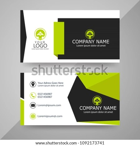 Visiting Card Designs Stock Vector (Royalty Free) 1092173741