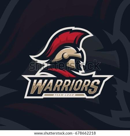 Warriors Sport Team Logo Design Spartan Stock Vector (Royalty Free