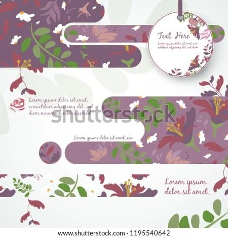 Watercolor Wedding Invitation Template Card Stock Vector (Royalty