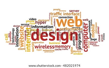 Web Design Word Cloud On White Stock Vector (Royalty Free) 482021974
