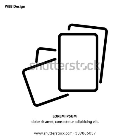 Web Line Icon Paper Blank Sheet Stock Vector (Royalty Free