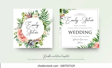 Floral Wedding Invitation Images, Stock Photos  Vectors Shutterstock