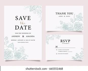 Watercolor Wedding Invitation Images Stock Photos