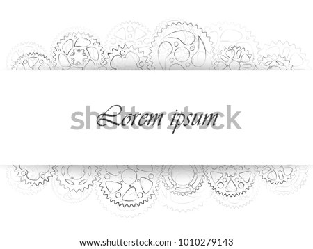Wedding Invitation Thank You Card Business Stock Vector (Royalty