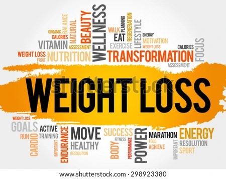 WEIGHT LOSS Word Cloud Fitness Sport Stock Vector (Royalty Free